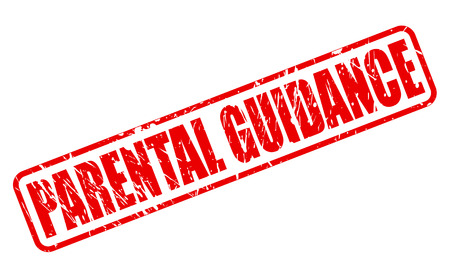 parental: PARENTAL GUIDANCE red stamp text on white