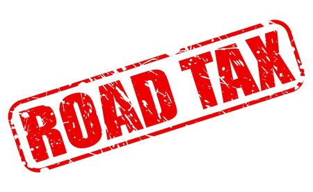 levied: ROAD TAX red stamp text on white