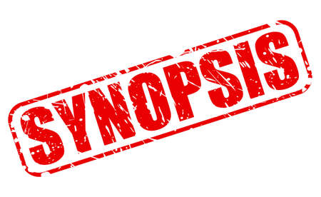 intro: SYNOPSIS red stamp text on white Stock Photo