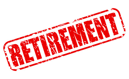 oap: RETIREMENT red stamp text on white Stock Photo
