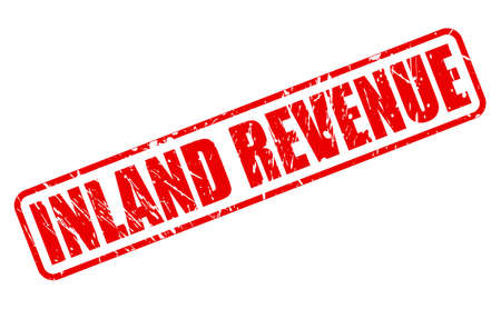 levy: INLAND REVENUE red stamp text on white