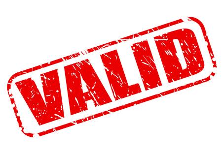 validez: VÁLIDO texto del sello rojo sobre blanco