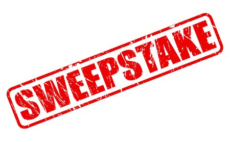 sweepstake: SWEEPSTAKE red stamp text on white Stock Photo