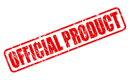 endorsement: OFFICIAL PRODUCT red stamp text on white Stock Photo