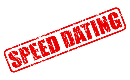 lust: SPEED DATING red stamp text on white