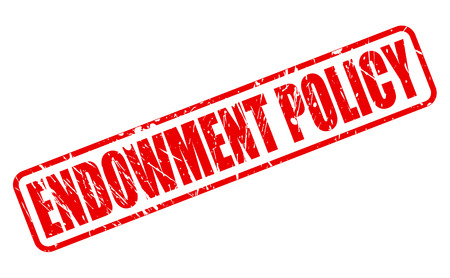 endowment: ENDOWMENT POLICY red stamp text on white