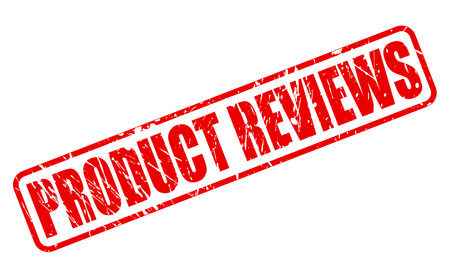 product reviews: PRODUCT REVIEWS red stamp text on white