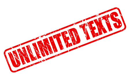 unlimited: UNLIMITED TEXTS red stamp text on white Stock Photo