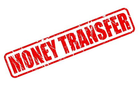 quick money: MONEY TRANSFER red stamp text on white
