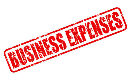 expenses: BUSINESS EXPENSES red stamp text on white Stock Photo
