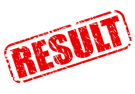 conclude: RESULT red stamp text on white Stock Photo