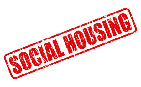 security council: SOCIAL HOUSING red stamp text on white Stock Photo