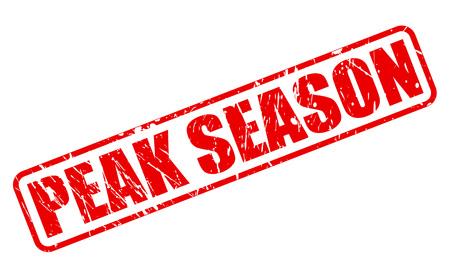 peak: PEAK SEASON red stamp text on white Stock Photo