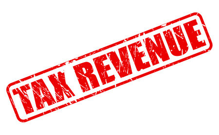 revenue: TAX REVENUE red stamp text on white
