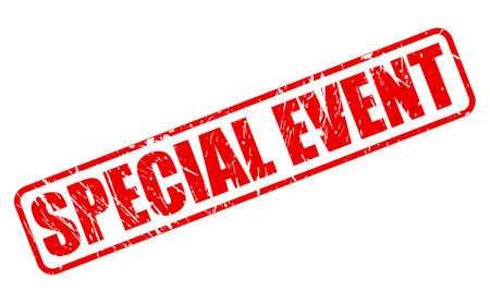 special event: SPECIAL EVENT red stamp text on white Stock Photo