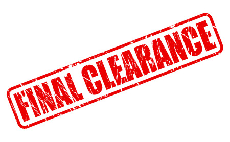 advertised: FINAL CLEARANCE red stamp text on white