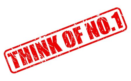 no1: THINK OF NO.1 red stamp text on white Stock Photo
