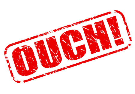 ouch: OUCH red stamp text on white Stock Photo