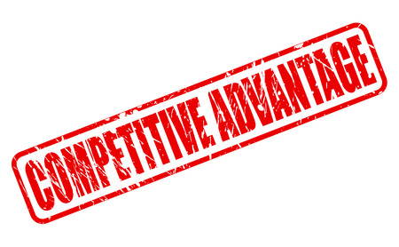 advantage: COMPETITIVE ADVANTAGE red stamp text on white Stock Photo