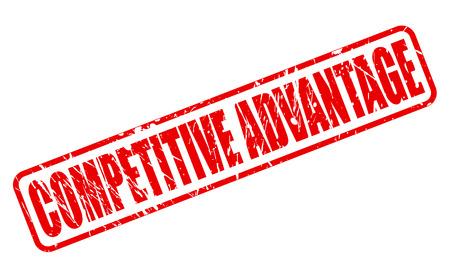 competitive advantage: COMPETITIVE ADVANTAGE red stamp text on white Stock Photo