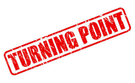 turning point: TURNING POINT red stamp text on white