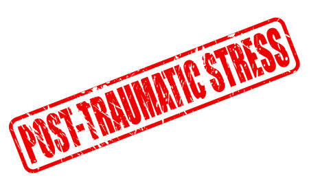 ordeal: POST-TRAUMATIC STRESS red stamp text on white