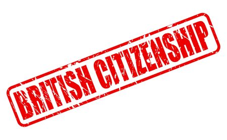 liberate: BRITISH CITIZENSHIP red stamp text on white