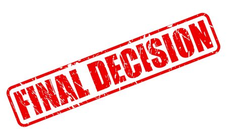 ruling: FINAL DECISION red stamp text on white