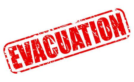 evacuacion: Texto del sello rojo EVACUACIÓN en blanco