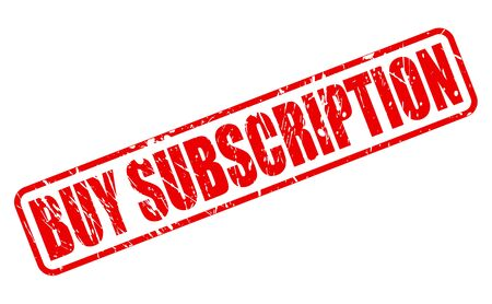 subscription: BUY SUBSCRIPTION red stamp text on white