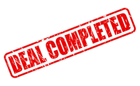 completed: DEAL COMPLETED red stamp text on white