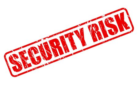 unprotected: SECURITY RISK red stamp text on white