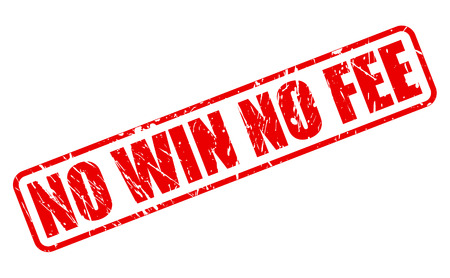 fee: NO WIN NO FEE red stamp text on white Stock Photo