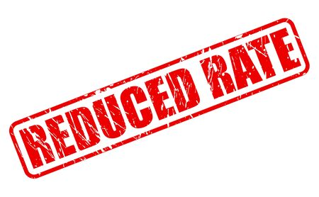 cheaper: REDUCED RATE red stamp text on white