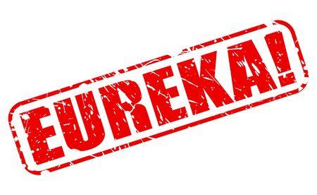 eureka: EUREKA red stamp text on white