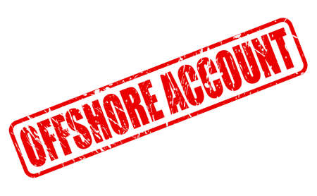 instability: OFFSHORE ACCOUNT red stamp text on white