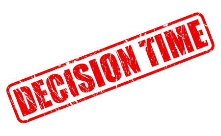 decision: DECISION TIME red stamp text on white Stock Photo