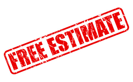 estimate: FREE ESTIMATE red stamp text on white