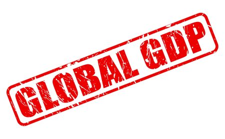outgoings: GLOBAL GDP red stamp text on white