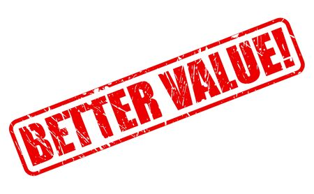 better price: BETTER VALUE red stamp text on white