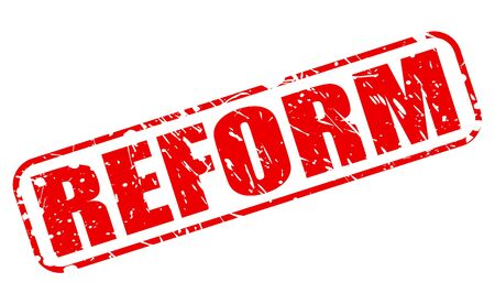 reform: REFORM red stamp text on white