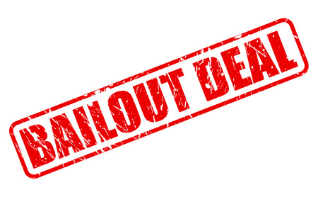 BAILOUT DEAL red stamp text on white