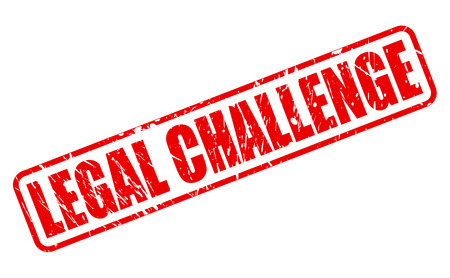 lawful: LEGAL CHALLENGE red stamp text on white Stock Photo