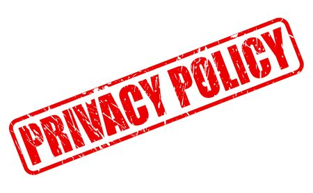 conduct: PRIVACY POLICY red stamp text on white Stock Photo