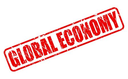outgoings: GLOBAL ECONOMY red stamp text on white