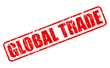 global trade: GLOBAL TRADE red stamp text on white