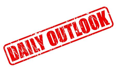 DAILY OUTLOOK red stamp text on white