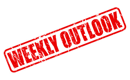 WEEKLY OUTLOOK red stamp text on white