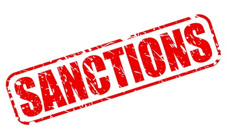 sanction: SANCTIONS red stamp text on white