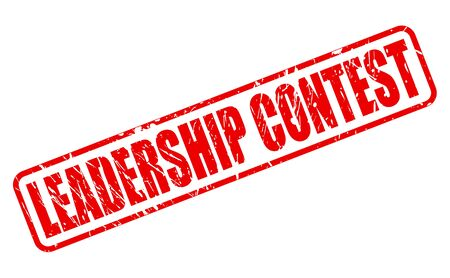 contest: LEADERSHIP CONTEST red stamp text on white